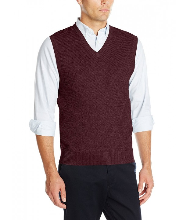Haggar Heather Diamond Texture Burgundy