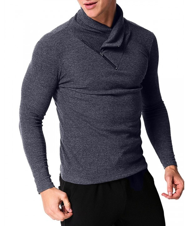 MODCHOK Sleeve Pullovers Turtleneck Sweaters