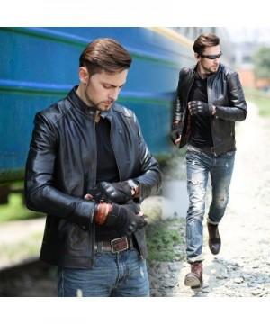 Men's Faux Leather Coats Outlet Online