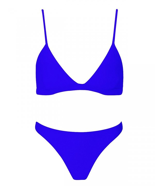 stripsky Triangle Brazilian Swimsuit Blue