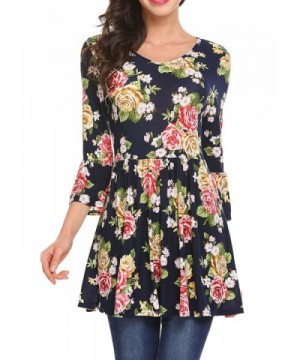 pasttry Womens Casual Through Floral