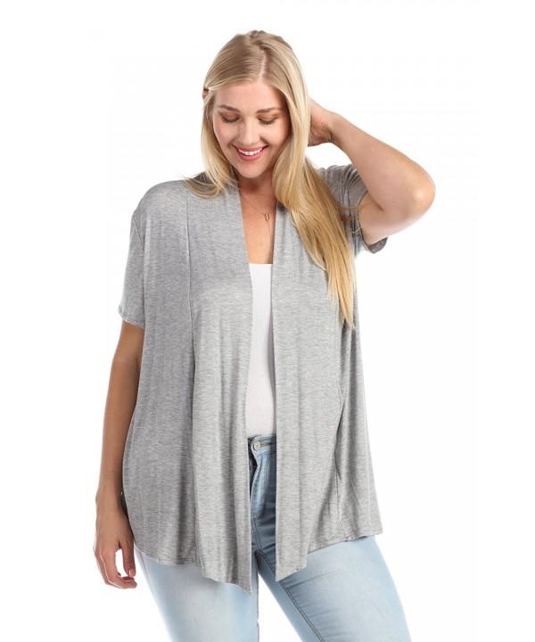 Zenana Womens Short Sleeve Cardigan