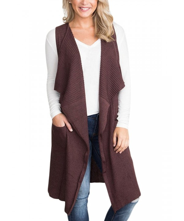 Sidefeel Sleeveless Knitted Cardigan Sweater