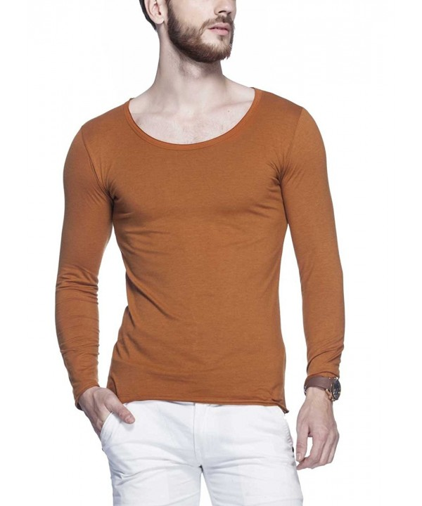 Tinted Solid Henley Sleeve T Shirt