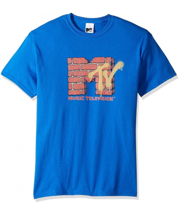 MTV Mens Brick T Shirt Royal