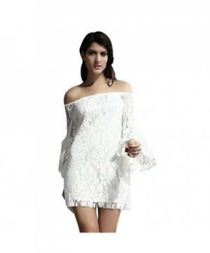 Anzona Womens Cream Shoulder Dress