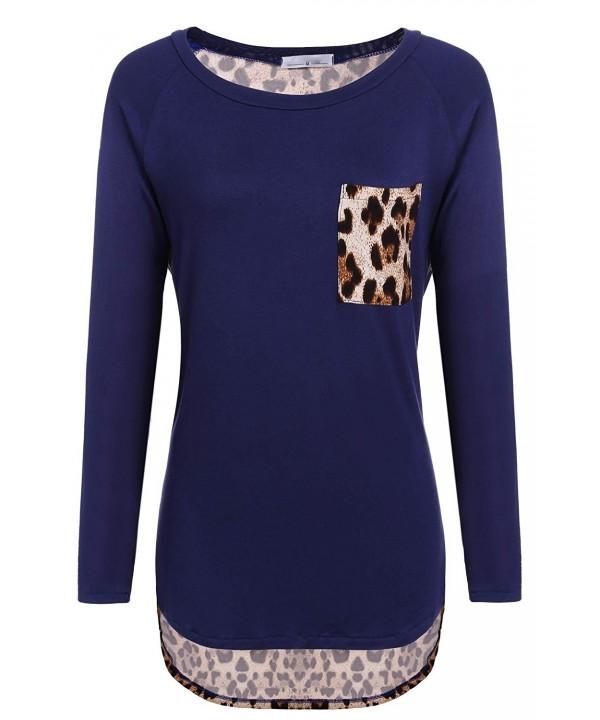 Elesol Womens Sleeve Leopard T Shirt