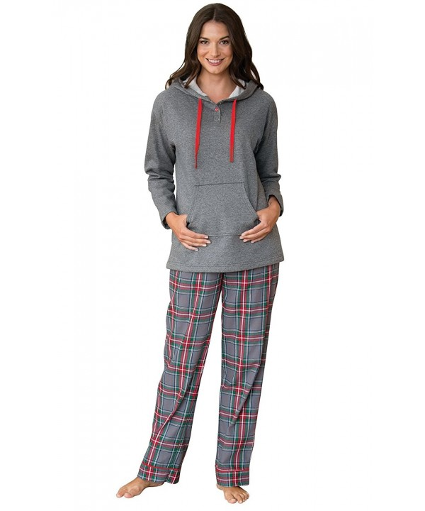 PajamaGram Hooded Fleece Flannel Pajamas