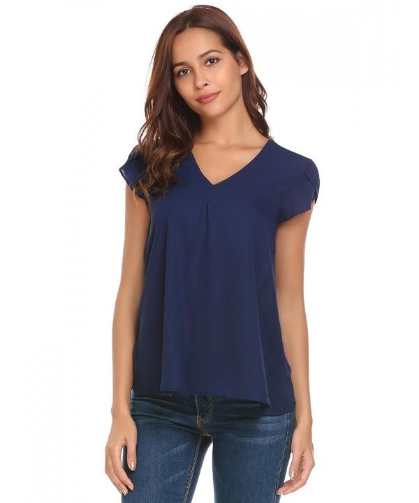 Concep Womens Casual Chiffon T Shirts