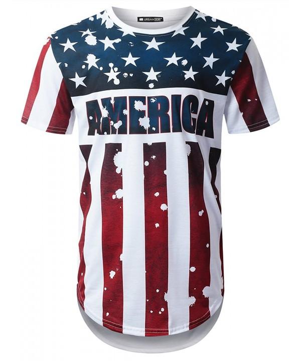 URBANTOPS Hipster America Longline T shirt