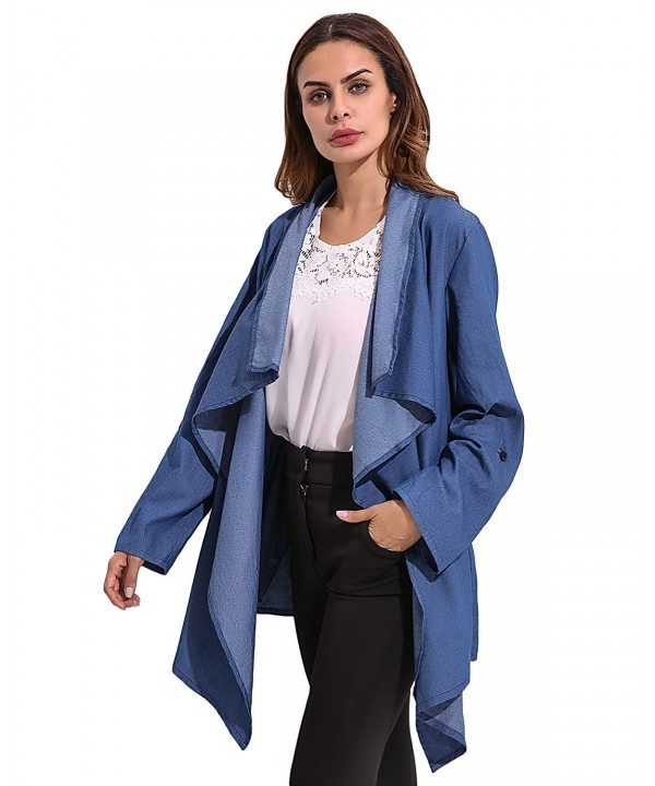 Cnfio Sleeve Outwear Waterfall Cardigan