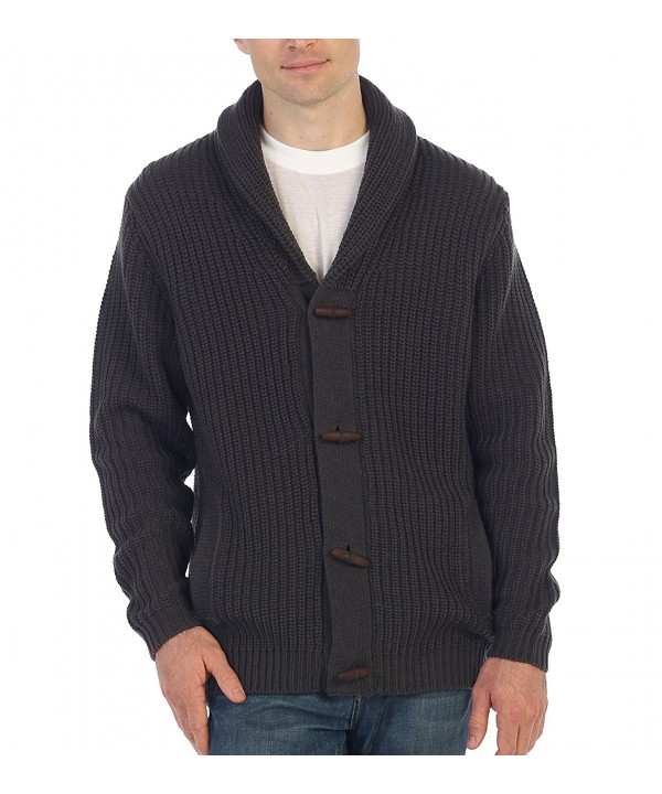 Gioberti Cardigan Knitted Sweater Charcoal