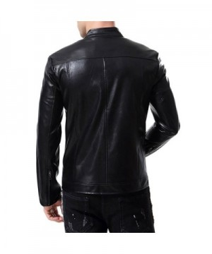 2018 New Men's Faux Leather Jackets