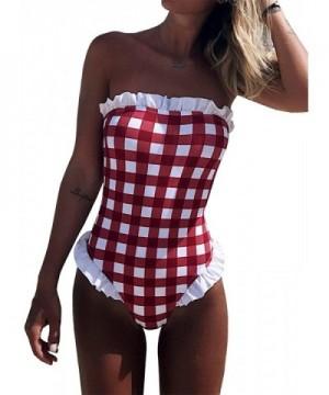 Dellytop Swimsuits Shoulder Swimwear Bathing