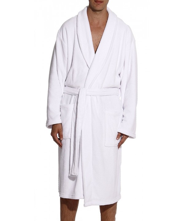 followme 46902 WHT L Plush Robe Robes
