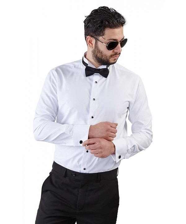Tailored White Tuxedo French Wrinkle