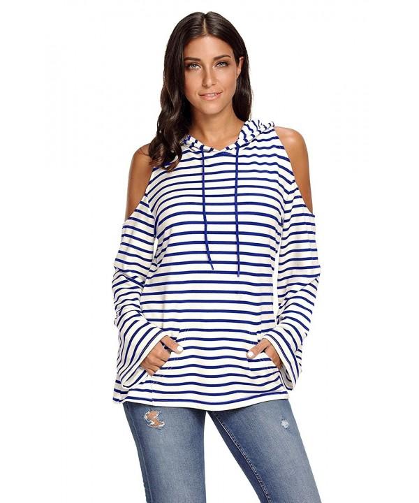 EnlaChic Striped Pullover Lightweight Sweatshirt