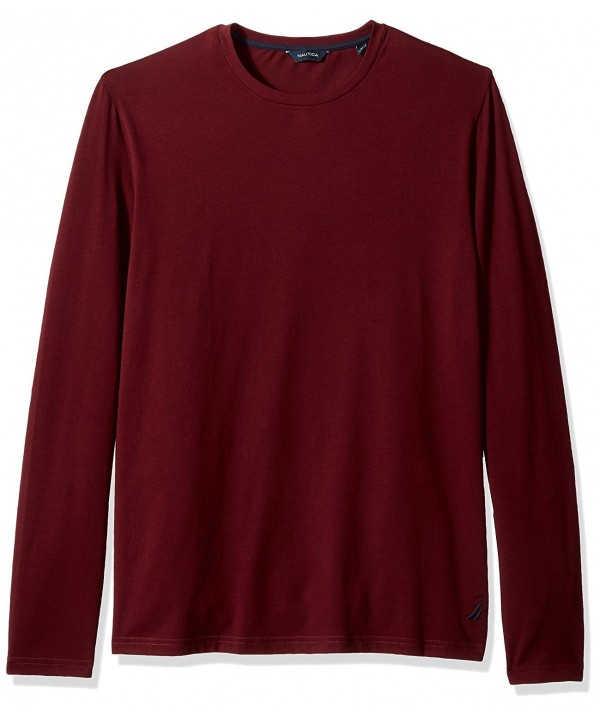 Nautica Sleeve Solid Burgundy X Large