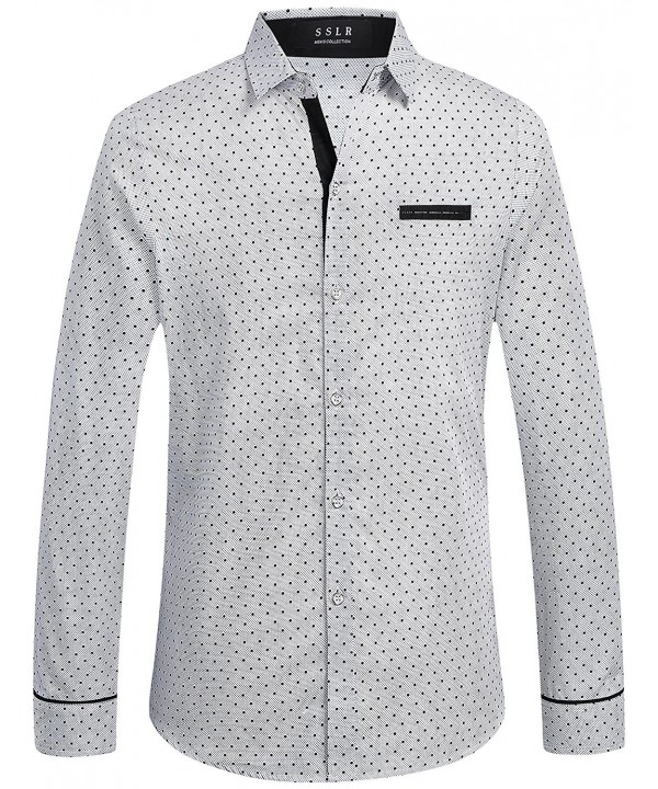 SSLR Polka Sleeves Dress Shirts