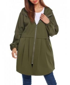9118b51e3f5 Women's Hooded Long Sleeve Lightweight Waterproof Rain Jacket ...