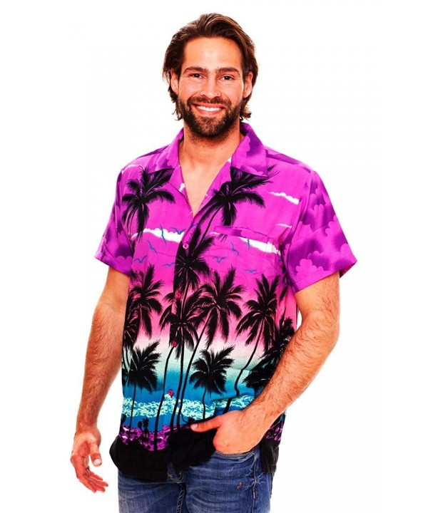Funky Hawaiian Shirt Beach purple