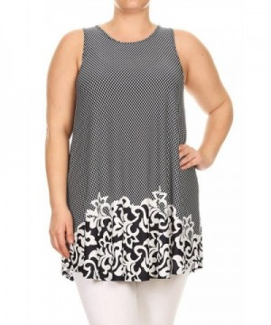 Womens Multi Printed Scalloped Abstract