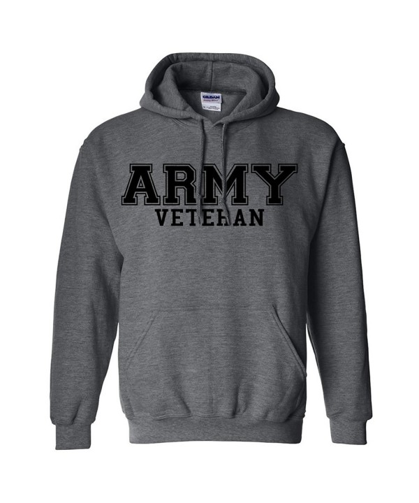Veteran BLACK Hooded Sweatshirt Heather