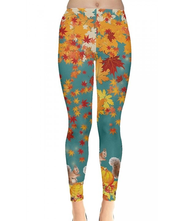 CowCow Turquoise Squirrel Pattern Leggings