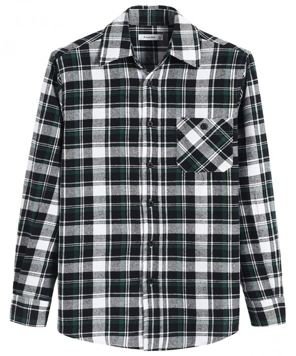 Esenchel Sleeve Plaid Cotton Flannel