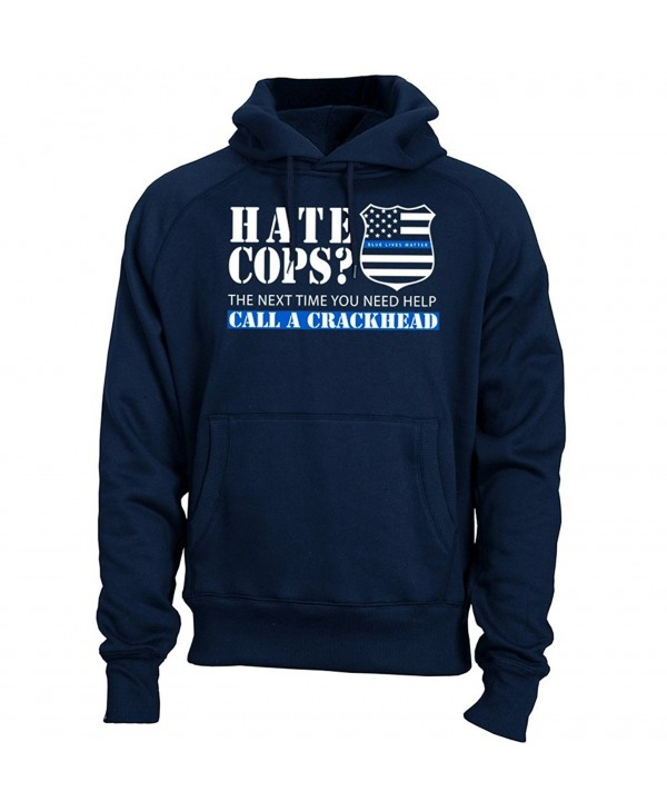 Thin Blue Crackhead Hoodie Sweatshirt