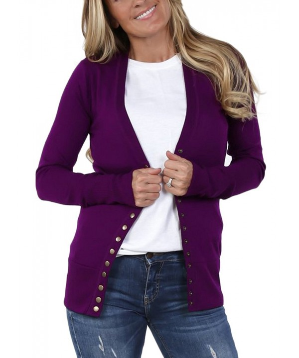 Risesun Womens Knitwear Cardigan Sweater