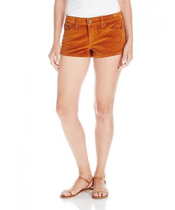 Volcom Juniors Cord Short Rust