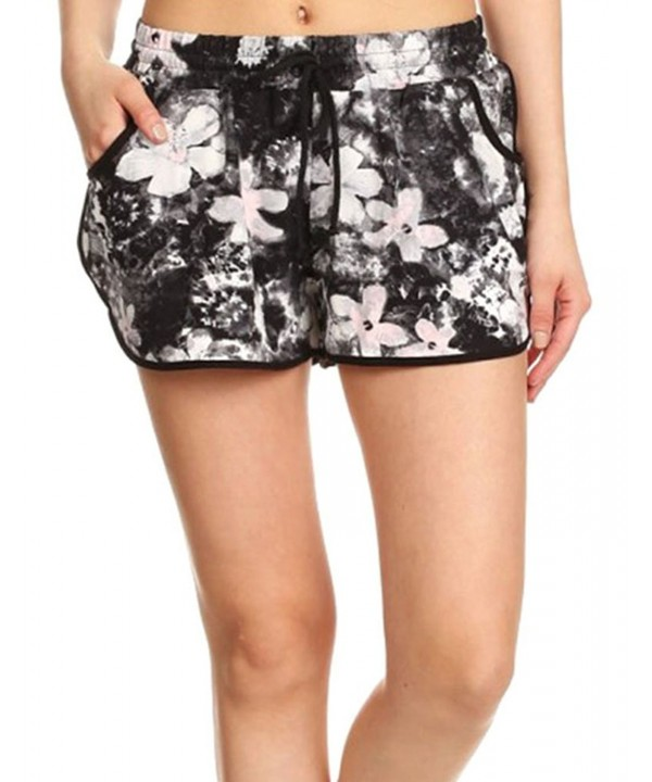 Womens Shorts Drawstring Floral Boardshorts