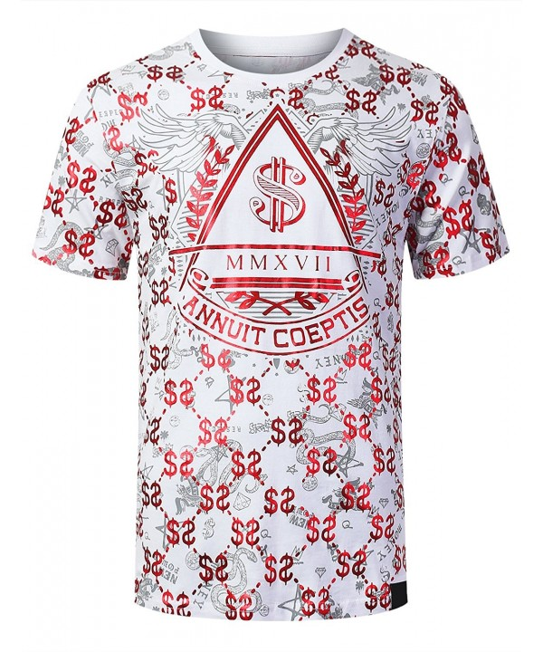 URBANCREWS Hipster Money Print T Shirt