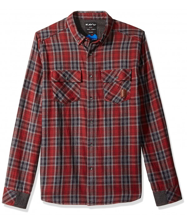 KAVU Buffaroni Mens Shirt Burgundy