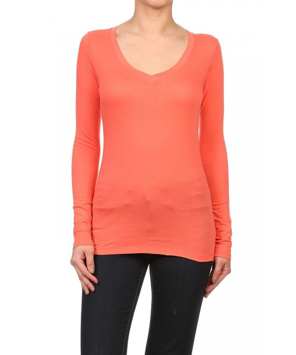 Bubble Womens Sleeve Solid V Neck