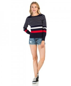 PINMUSE Striped Sweater Pullover SW630 L