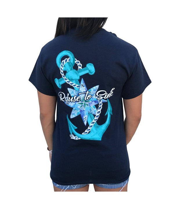 Southern Attitude Refuse Anchor T Shirt