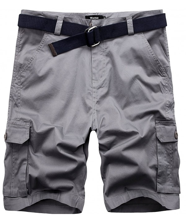 Wantdo Belted Relaxed Cotton Shorts