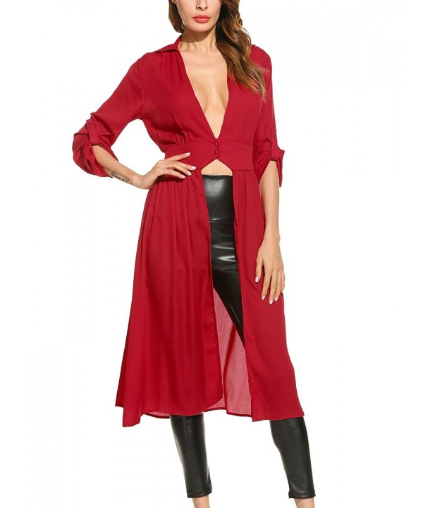 Pagacat Womens Sleeve Chiffon Cardigan