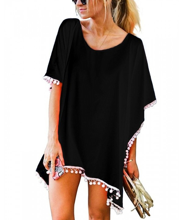 XUERRY Chiffon Stylish Swimsuit Black Ball