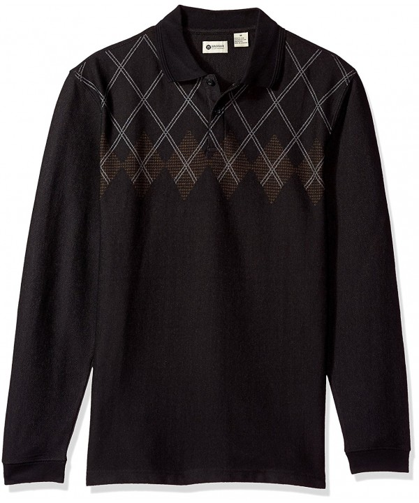 Haggar Sleeve Double Jacquard Black