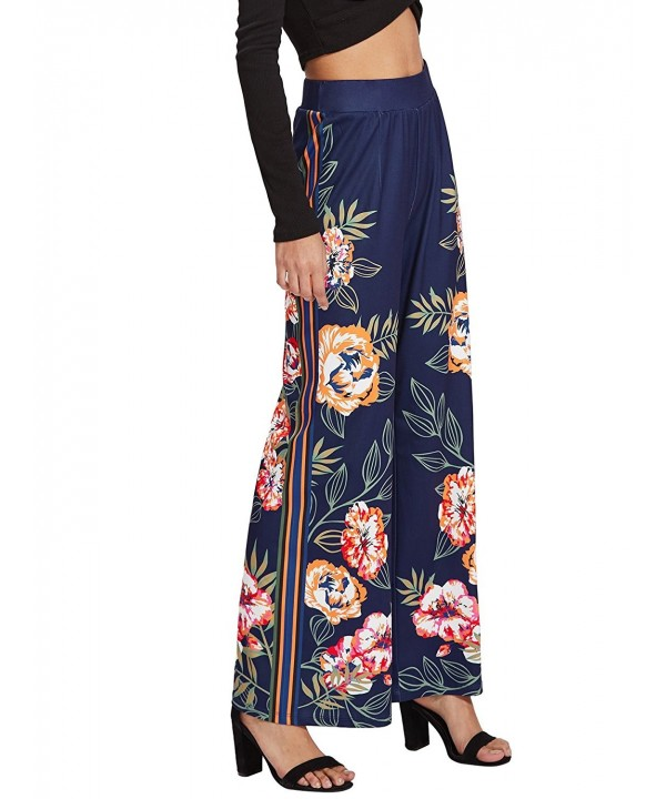WDIRA Womens Casual Floral Palazzo
