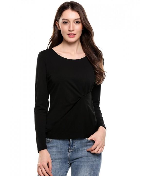 SummerRio Womens Sleeve Bodycon Tops Black