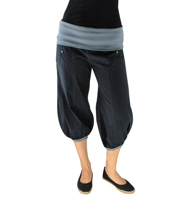 virblatt Cropped Pants Harem Sonnengru###Women's Athletic Pants