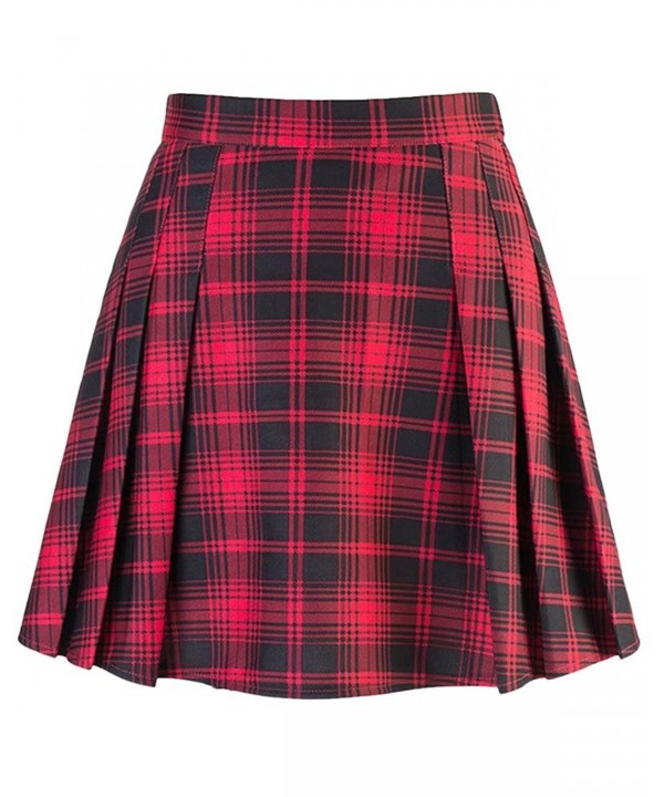 Women Pleated School Uniform Plaids