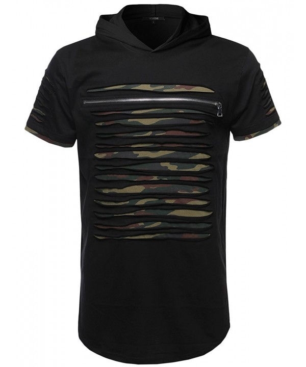 Design Zipper Sleeves Hoodie Blackcamo