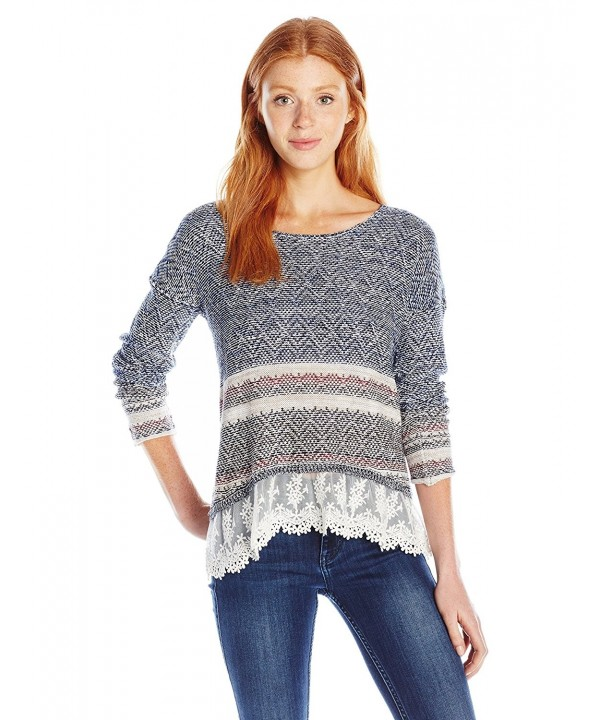 Jolt Womens Sleeve Sweater Striped