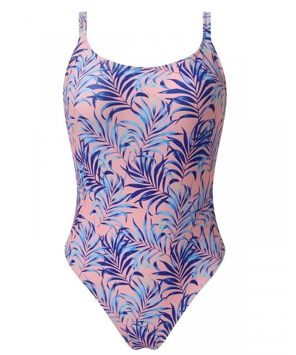 OMKAGI Tropical High Waist One Piece Swimsuits