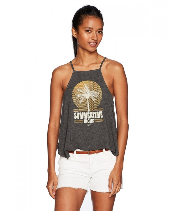 Lira Clothing Womens Top Palm Charcoal